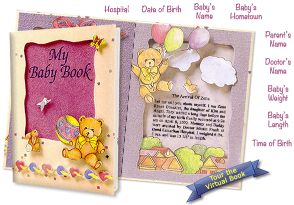 Customized baby gifts to surprise new moms personalized childrens baby books negle Images