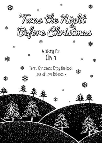 personalized twas the night before christmas book
